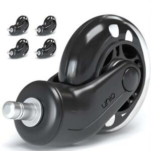 Office Chair Caster Wheels Perfect Replacement For Desk Floor Mat Set Of 5