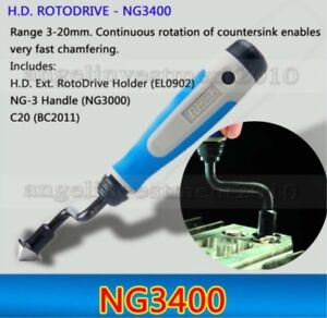 1 Piece Noga Deburring Tool H d Rotodrive Ng3400 Useful For Chamfering Holes