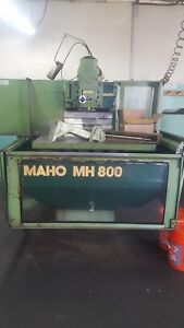 Used Maho Mh 800e Cnc Vertical horizontal Mill Milling Machine W Tooling