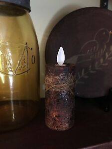 Primitive Grungy Authentic Luminara 3 Votive Candle Spiced Aged Grubby