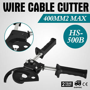 Ratchet Wire Cable Cutter Cut 400mm Carbon Steel Forging Blade Handle Great