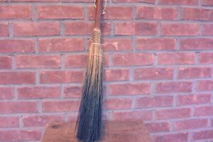Short Wood Handle Straw Hearth Broom