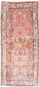 Magnificent Floral Handmade Wool Collectable Lilian Narrow Runner Rug Pi2x5