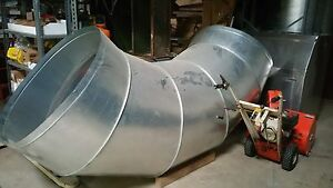 40 Galvanized Steel Round Duct Pipe Air Supply Tube
