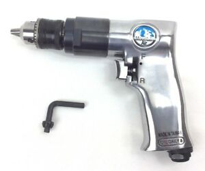 Pneumatic Air Drill Variable Speed 3 8 Reversible Air Power 1800rpm Pistol Grip