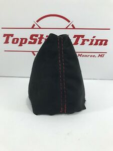 Fits 2006 11 Honda Civic Si Black Suede Shift Boot