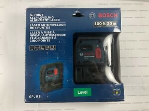 Bosch 5 Point Self leveling Alignment Laser Model Gpl5 S Brand New Sealed