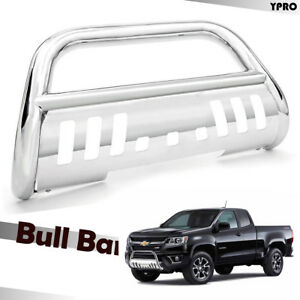 2015 2019 Chevy Colorado Chrome Grilles Guard Protector 3 Bull Bar Front Bumper