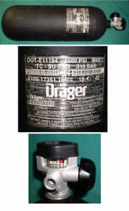 Drager 4500psi Scba Tank Dated 10 02 Unused Scuba Fireman Rescue Air
