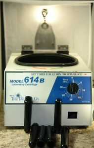 Drucker Co Lab Centrifuge Model 614b With 6 Inserts Pre owned Good Working Con