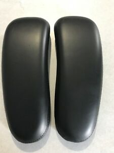 Herman Miller Classic Aeron Chair Leather Arm Pads Gen Used Original Black Pair