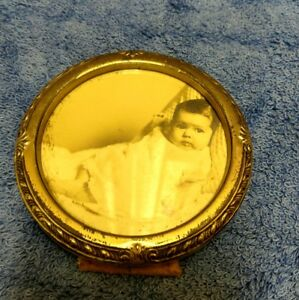 Vtg Art Deco Saart Bros Sterling Silver Baby Picture Frame