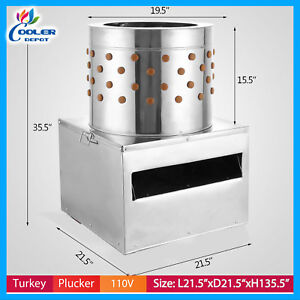 New Turkey Chicken Plucker Plucking Machine Poultry De feather Commercial Pf22