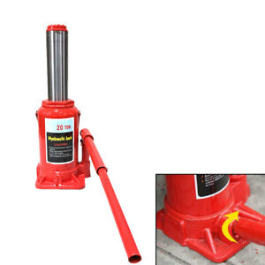 20 Ton Suv Pickup Truck Emergency Hydraulic Bottle Jack Repair Lift Stand Tool
