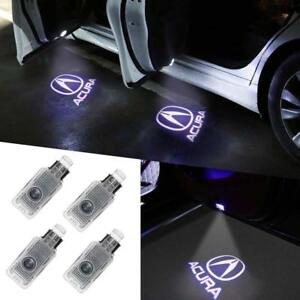 4pcs Ghost Shadow Laser Projector Logo Led Door Step Light Courtesy For Acura