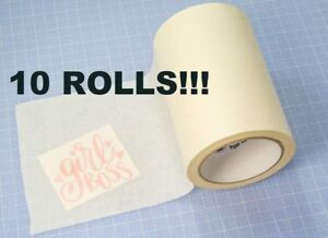 10 Rolls 6 x100 Paper Transfer Tape Wet Application Vinyl