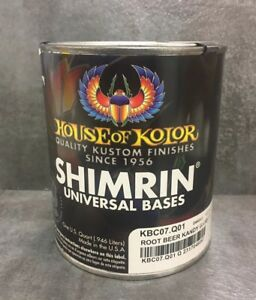 House Of Kolor Kbc07 Rootbeer Shimrin Kandy Basecoat Auto Paint 1 Quart