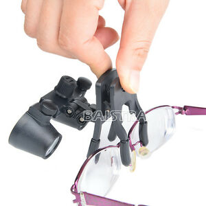 Dental Clip On Loupes Surgical Binocular Magnifier Glass Loupes 2 5x Dentist B