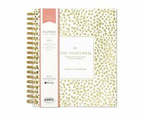 Day Designer For Blue Sky 2019 Daily Monthly Planner Flexible Frosted Cover