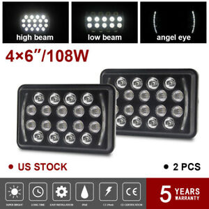 7x6 5x7 Dot Led Cree Headlight Assembly Hi low Sealed Beam Fit Chevy 1500 8us