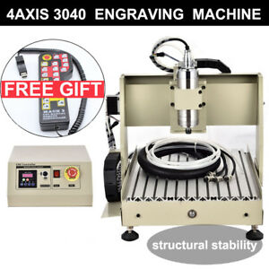 4 Axis 800w Vfd Cnc Router Engraver Machine 3040 Engraving Milling Carving rc