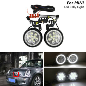 Led Halo Rally Drl Driving Fog Lights For Mini Cooper R50 R52 R53 L