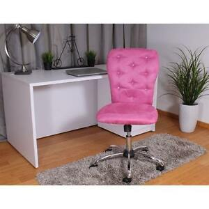 Desk Chair For Teen Girls Women Pink Glam Tufted Bling Dorm Home Office Computer