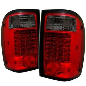 Spyder Led Tail Lights Red Smoke For 01 05 Ford Ranger