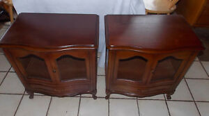 Pair Of Mid Century Mahogany Nightstands Side Tables By Drexel Rp Ns65