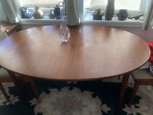 Peter Hvidt Teak Dining Table For John Stuart Mcm Mid Century Modern W 2 Leaves