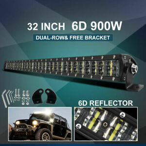 Cree 32inch Led Light Bar 900w Driving Offroad Flood Spot Combo Beam Pk 30 34