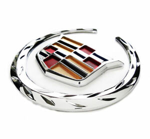 Cadillac Front Grille 6 Emblem Hood Badge Logo Chrome Color Symbol New Ornament