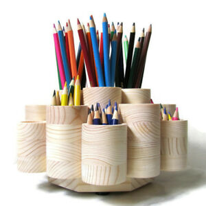 Deluxe Rotating Colored Pencil Holder Organizer Holds 260 Pencils Handmade Usa