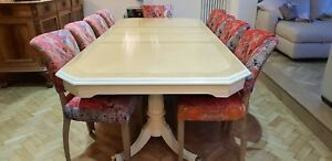 Amazing Designer Art Deco Style Maple Burr Ash Dining Table French Polished