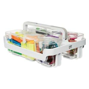 Deflecto Desk Supplies Organizer Caddy Three Clear Compartments 29003