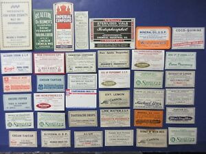 40 Old Pharmacy Apothecary Medicine Bottle Labels Diff