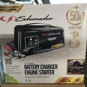 Schumacher 12v Automatic Starter Battery Charger Sc 1361