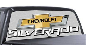 Chevrolet Silverado Rear Window Decal Chevy Graphic For Truck Suv