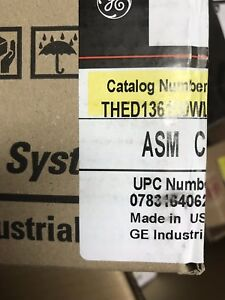 Ge Thed136100wl Molded Circuit Breaker 100amp 600vac 3 pole New In Box
