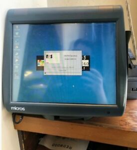 Micros E7 Ws5 Pos Workstation 5 System Unit 400814 101 W Stand Thermal Printer