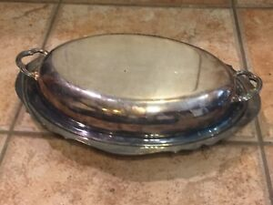 Vintage Poole Silver Co Casserole Victorian Serving Covered Dish 151 Silverplate