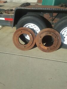 VINTAGE FORD TRACTOR REAR WHEEL WEIGHTS PAIR 8N8NJUBILEE OTHERS