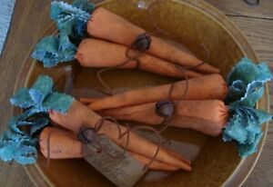Primitive Rusty Wire Carrots For The Easter Bunny Bowl Fillers Ornies