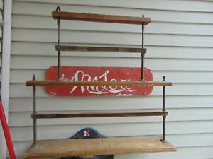Vintage Antique General Store Butcher Paper Cutter Rack Nice 6643