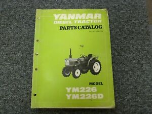 Yanmar Ym226 Ym226d Compact Utility Tractor Parts Catalog Manual P n K054e1108