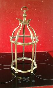 Arts Crafts Brass Hanging Porch Lantern Hall Light Without Glass House Cleara