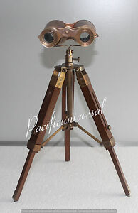 Antique Brass Binocular With Stand 9 Unique Collectible Ship Instrument Item
