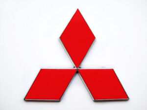 Mitsubishi Matte Red Sticker Overlay Decal For 2004 2016 Emblems