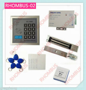 Access Control System W 280kg Electronic Lock power Supply exit Button 10em Card