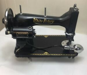 Antique White Rotary Sewing Machine Circa 1930 S